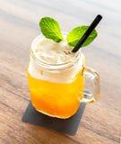 Ice Passionfruit tea Stock Photo