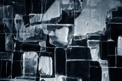 Ice pattern background 2. The picture shows a pattern of dark and lights spots of ice Royalty Free Stock Photos