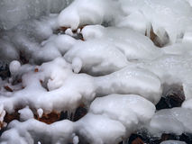 Ice Pattern Background. Beautiful ice formations formed along a creek Stock Photography