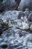 Ice Pattern on Loch Garten in the Highlands of Scotland. Ice Pattern on Loch Garten in the Cairngorms National Park in the Highlands of Scotland royalty free stock image