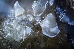 Ice Pattern on Loch Garten in the Highlands of Scotland. Broken Ice pattern on Loch Garten in the Highlands of Scotland stock image