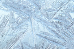 Ice pattern on window Stock Photography