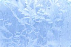 Ice pattern on window in winter Royalty Free Stock Photo
