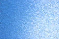 Ice pattern on window in winter as background Stock Images