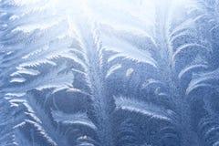 Ice pattern on window Stock Photos