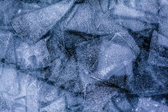 Ice patterns of frozen lake Baikal Stock Images