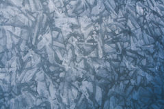 Ice Patterns on a Frozen River. Beautiful patterns can be seen in the ice on the frozen Platte River Stock Images