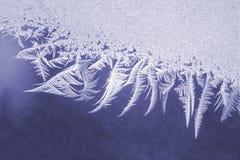 Ice patterns on frozen window
