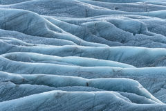 Ice patterns in glacier Stock Photography