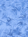 Ice patterns on glass in winter Stock Photography