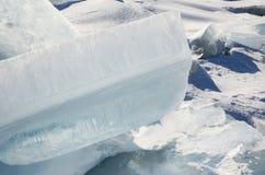 Ice patterns of Lake Baikal. Cracks and hummocks Royalty Free Stock Images