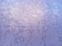 Ice patterns on winter glass Stock Image