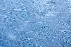 Ice patterns on winter window Royalty Free Stock Photography