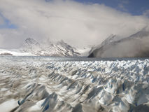 Ice peaks until the horizon. Perito Moreno glacier Royalty Free Stock Photography