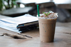 Ice peppermint mocha Royalty Free Stock Image