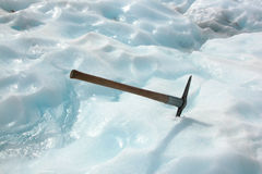 Ice Pick. In Fox Glacier, South Island, New Zealand Stock Image