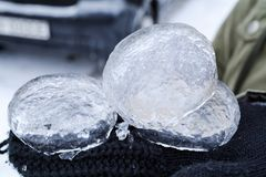Ice pieces Stock Photography