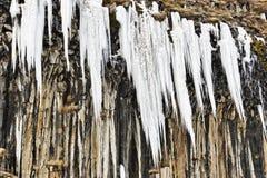 Ice pinnacles Stock Photo