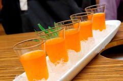 Ice plum vinegar drink Stock Photos