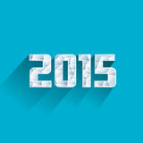 Ice polygonal 2015 year with long shadow effect Royalty Free Stock Photos