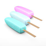 Ice Pops. Colorful ice pops isolated on white background Royalty Free Stock Photos