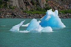 Ice from the Portage Glacier Royalty Free Stock Image
