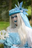 Ice princess. At the elf fantasy fair at Arcen in the netherlands on 16 september 2012 royalty free stock images