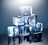 Ice pyramide Stock Images