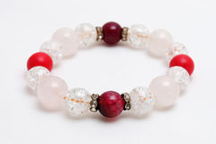 Ice Quartz, Red Coral stone, Agate Lucky stone Stock Photography