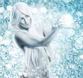 Ice queen - the background frosty, icy, frozen Royalty Free Stock Photo