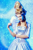 Ice queen lady stock photography