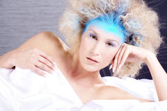 Ice queen in the lie Royalty Free Stock Images