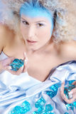 Ice queen lying down Stock Photography