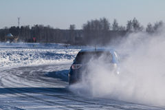 Ice race stock photo
