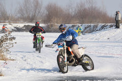 Ice Racing 2017, Januray 22, Santioana de Mures, Romania. Ice Racing 2017, local winter motorsport competition on a frozen lake in Santioana de Mures, Romania Royalty Free Stock Photo