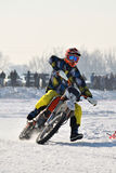 Ice Racing 2017, Januray 22, Santioana de Mures, Romania. Ice Racing 2017, local winter motorsport competition on a frozen lake in Santioana de Mures, Romania Stock Photography