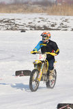 Ice Racing 2017, Januray 22, Santioana de Mures, Romania. Ice Racing 2017, local winter motorsport competition on a frozen lake in Santioana de Mures, Romania Stock Image
