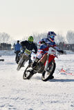 Ice Racing 2017, Januray 22, Santioana de Mures, Romania. Ice Racing 2017, local winter motorsport competition on a frozen lake in Santioana de Mures, Romania Stock Images