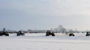 Ice racing, Lithuania Royalty Free Stock Photo