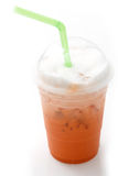 Ice red tea in takeaway cup isolated Stock Photos