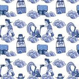 Ice removal pattern similar royalty free illustration