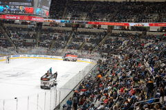 Ice resurfacer with shark fin Royalty Free Stock Photos