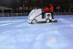 Ice resurfacing Royalty Free Stock Photos