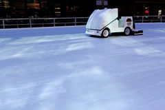 Ice resurfacing machine royalty free stock image