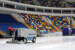Ice resurfacing machine Royalty Free Stock Photography