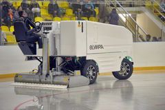 Ice resurfacing machine Royalty Free Stock Photo