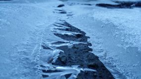Ice ridge stock image