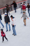 Ice Ring Rockefeller Center New York City Royalty Free Stock Photos