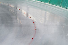 Ice rink. A view of a part of ice rink royalty free stock photo