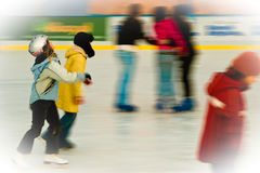 Ice rink. Royalty Free Stock Image